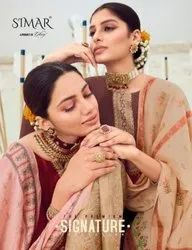 Glossy Simar Signature 351 To 356 Series Silk With Embroidery Salwar Suit Catalog