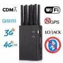 Portable Cell Phone Jammers 2G 3G 4G LTE Lojack GPS WiFi