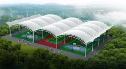 PVC Modular Indoor badminton court roofing shed