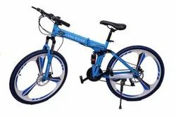 Blue Land Rover Foldable Cycle