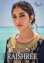 Shree Fabs Rajshree Georgette Designer Sharara Style Salwar Suits Catalog