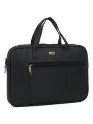 Black PU Solid Laptop Sleeve