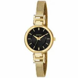 Round Formal Watches Optima Day & Date Functioning Blue Dial Chain Watch For Women & Girls, For Personal Use