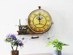 Malik Designs Analog M 11 Wrought Iron Antique Wall Clock, Size: 18x19 Inch
