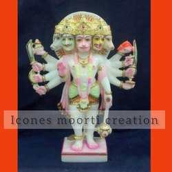 4 Feet Marble Hanuman Statues