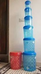 Plastic 6 Pc Storage Container Set, For Home