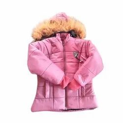 Polyester Hooded Girls Winter Jackets