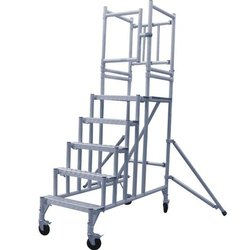 15 Ft Aluminum Trolley Mobile Scaffold Tower