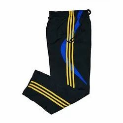 Black Daily Wear Men Striped Polyester Lower