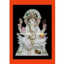 Icones Fancy Marble Ganesh Statues