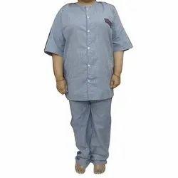 Blue Check Hospital Staff Uniform