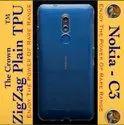Plain Silicon Nokia C3 Transparent Mobile Back Cover