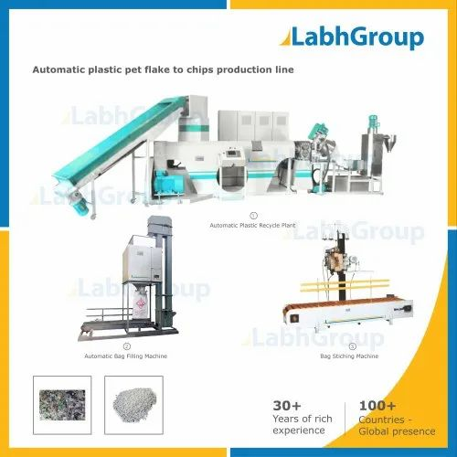 Automatic PET Plastic Waste Recycling Plant