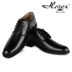 Derby Formal horex Black Navy Uniform Shoes In Pure Leather, TPR