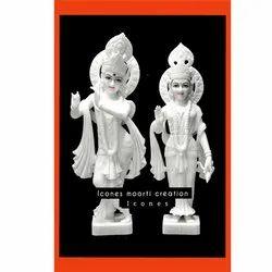 White Radha Krishna Statue