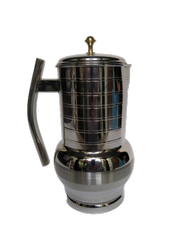 New Stainless Steel Water Jug Simple Design and with Lid Pitcher