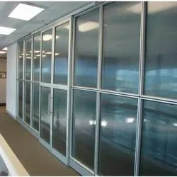 Aluminium Office Partition Fabrication Work