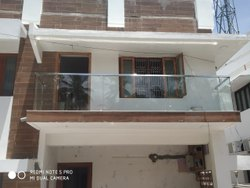 Balcony Glass Handrail Work