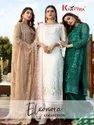 Multicolor Unstitch Heavy Embroidered Georgette Semi Stitch Pakistani Suit, Dry Clean