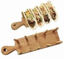 Wooden Taco Stand