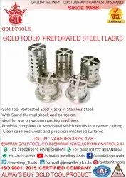 Gold Tool Perforated Steel Flasks
