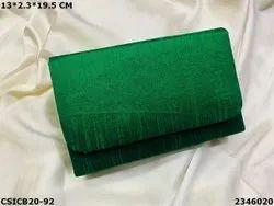 Ethnic Raw Silk Clutch Bag