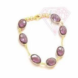 Amethyst Bezel Bracelets