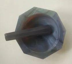 Agate Mortar Pestle - 14.2 cm