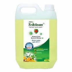 JRK's Liquid Triklean Herbal Hand Wash Unique Water Saving Formula, For Personal, Packaging Size: 5 Litre
