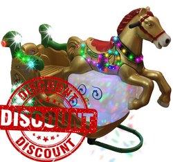 Cloudy Horse Kiddie Amusement Ride Game