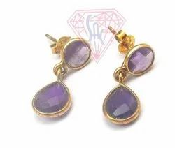 Amethyst Jewelry Earrings Set