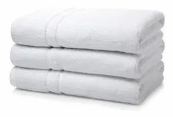 hangdying Plain White Hotel Towel, 450-550 GSM, Size: 30*60,27*54
