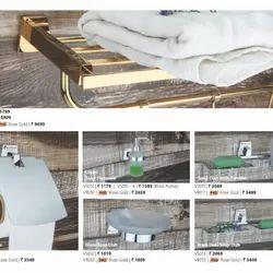 Copper Stone Brass Bath Accessories, For Home