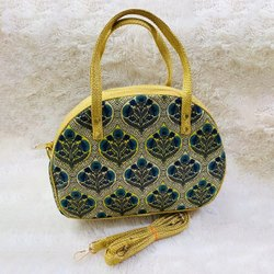 Stylish Ikkat Fabric Shoulder Bags