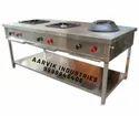 Aarvik 3 Three Burner Indochinese Cooking Range, For Hotel