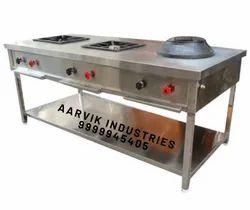 Three Burner Indochinese Cooking Range