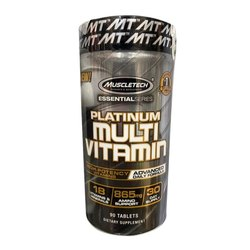 Tablet Muscletech Platinum Multivitamin Dietary Supplement, 90 Tablets, Prescription