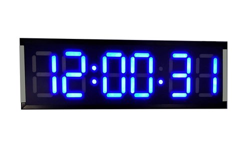 Large digital wall clock for gym