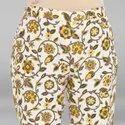 Janasya Women''s Cream Pure Cotton Kurta With Pant And Dupatta(SET171)