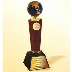 WM 9767 Ample Blue Globe Trophy