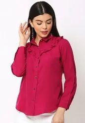Galaxy Trendz Designer Casual Ruffle Top