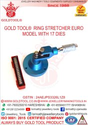Gold Tool Ring Expanding With 3 Stud Base