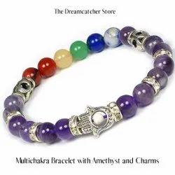 40-50 MM Natural 7 Chakra Lapis Healing Pendant Set Crystal Beaded  Divine Aura