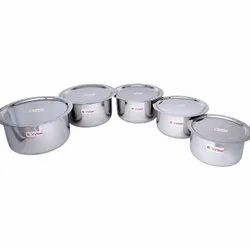 Stainless Steel Flat Bottom Tope, Size: 7*18