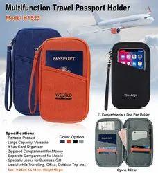 Zipper travel passport holder