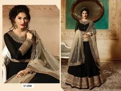 Heavy Fox Georgette With Embroidery Work Gown