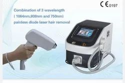 TRIPLE WAVELENGTH DIODE FOR PERMANENT HAIR REMOVAL