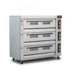 Commercial Gas Pizza Oven 3 Deck 9 Tray