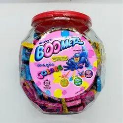 Strawberry Rectangular Boomer Chewing Gum, Packaging Type: Plastic Jar