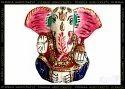 Nirmala Handicrafts Metal Meenakari Kan Ganesha Statue God Idol Figurine